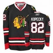 Tomas Kopecky Jersey Reebok Chicago Blackhawks 82 Authentic Black Man NHL Jersey