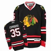Tony Esposito Jersey Reebok Chicago Blackhawks 35 Premier Black Man NHL Jersey