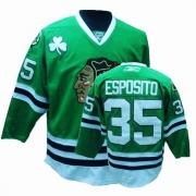 Tony Esposito Jersey Reebok Chicago Blackhawks 35 Authentic Green Man NHL Jersey