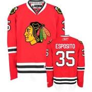 Tony Esposito Jersey Reebok Chicago Blackhawks 35 Authentic Red Home Man NHL Jersey