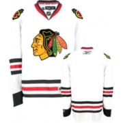 Blank Jersey Reebok Chicago Blackhawks Premier White Man NHL Jersey